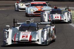 Tom Kristensen, Loic Duval, Allan McNish, Andre Lotterer, Benoit Treluyer, Audi Sport Team Joest, Au