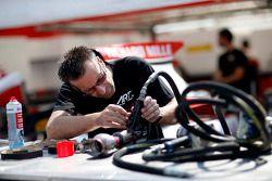 ART Grand Prix mechanic at work