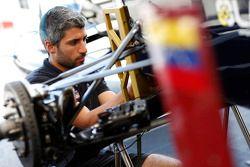 A Venezuela GP Lazarus mechanic at work