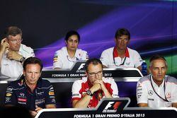 Monisha Kaltenborn, Sauber ; Graeme Lowdon, Marussia F1 Team ; Christian Horner, Red Bull Racing ; Stefano Domenicali, Ferrari