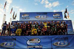 Fotosessie rijders voor de 1000e Nationwide race