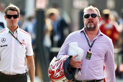 Mike Collier, Personal Trainer, Jenson Button, McLaren ve Richard Goddard, Pilot Menajeri, Paul di Resta, Sahara Force India F1 ve Jenson Button, McLaren