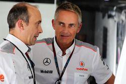 Phil Prew, McLaren Race Engineer with Martin Whitmarsh, McLaren Chief Executive Officer