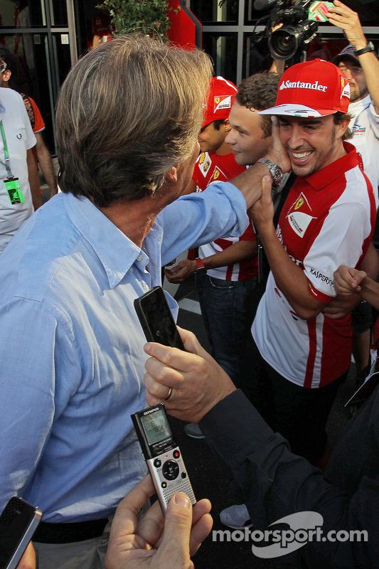 Luca di Montezemolo, Presidente da Ferrari com Fernando Alonso, Ferrari