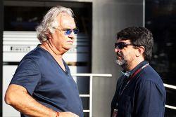 Flavio Briatore, con Luis García Abad, manager de Fernando Alonso, Ferrari
