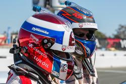Yvan Muller en Tom Chilton na de kwalificatie