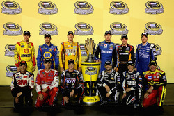 Joey Logano, Martin Truex Jr., Kyle Busch, Carl Edwards, Matt Kenseth, Dale Earnhardt Jr., Greg Biffle, Kevin Harvick, Kurt Busch, Jimmie Johnson, Kasey Kahne, Clint Bowyer