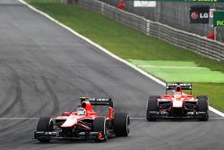 Max Chilton, Marussia F1 Team MR02 leads team mate Jules Bianchi, Marussia F1 Team MR02