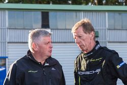 Wolfgang Hatz, Board Member of the Executive for Research and Development, Walter Röhrl, twice holder of the rally world championship