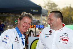 Malcolm Wilson, Director de Equipo, Ford World Rally Team e Yves Matton, Director de Citroen Sport