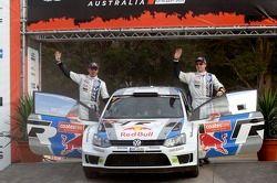 Podyum: Jari-Matti Latvala and Miikka Anttila, Volkswagen Polo WRC, Volkswagen Motorsport
