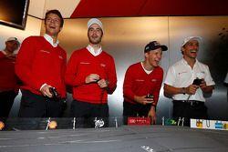 Adrien Tambay, Miguel Molina, Mattias Ekström e Filipe Albuquerque