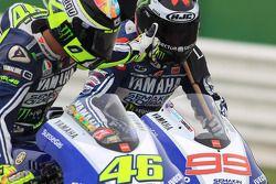 Valentino Rossi and race winner Jorge Lorenzo