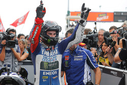 Il vincitore della gara Jorge Lorenzo, Yamahaa Factory Racing