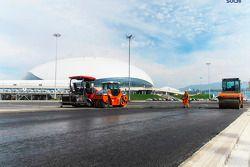 Construction continues, Sochi circuit Hazırlıklar, to host a 2014 Grand Prix