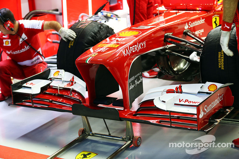 Ferrari F138 nosecone and front wing