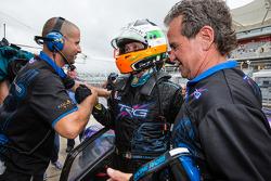 GTC pole winner Damien Faulkner celebrates with Kevin Buckler