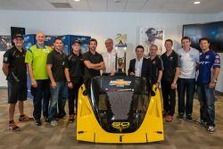 Pilotos estadounidenses en el evento Le Mans: Sesión de fotos grupal