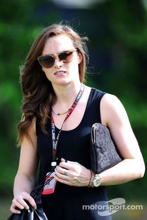 Laura Jordan, novia de Paul di Resta, del equipo Sahara Force India F1