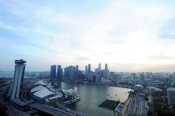 صورة لأفق سنغافورة من الطائرة