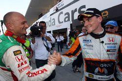 Norbert Michelisz, Honda Civic, Zengo Motorsport pole position with Gabriele Tarquini, Honda Civic,