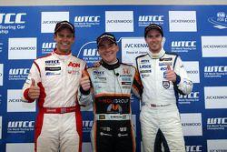 Press conference, 3rd position Tom Chilton, Chevrolet Cruze 1.6 T, RML, Norbert Michelisz, Honda Civ