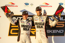 P1 podium: class and overall winners Klaus Graf and Lucas Luhr