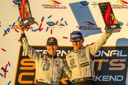 P2 podium: class winners Scott Tucker and Ryan Briscoe
