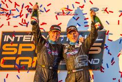 GTC podium: class winners Ben Keating and Damien Faulkner