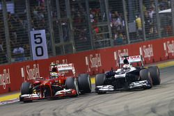 Pastor Maldonado, Williams FW35 y Felipe Massa, Ferrari F138