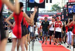 Fernando Alonso, Scuderia Ferrari y Charles Pic, Catheram Formula One Team , Jules Bianchi, Marussia