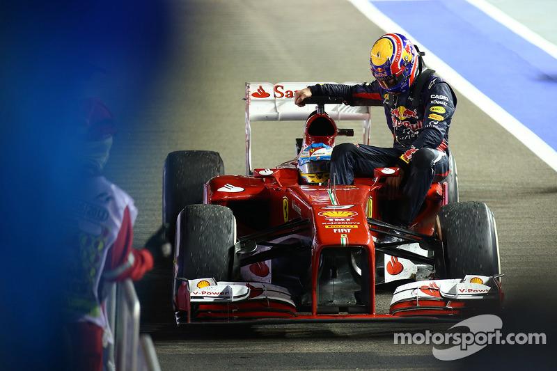 Fernando Alonso, Ferrari y Mark Webber, Red Bull Racing