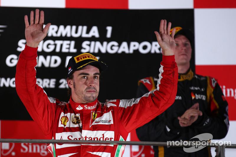 96- Fernando Alonso, 2º en el GP de Singapur 2013 con Ferrari