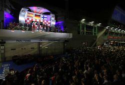Sebastian Vettel, Red Bull Racing, Fernando Alonso, Scuderia Ferrari et Kimi Räikkönen, Lotus F1 Team