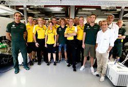 Cyril Abiteboul, and Jean-Francois Caubet, Renault Sport F1 Director, Charles Pic, Catheram Formula