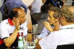 Frederic Vasseur, jefe de ART GP con Alain Prost