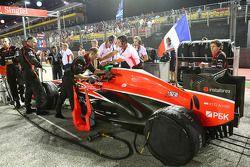 Jules Bianchi, Marussia F1 Team MR02 en la parrilla
