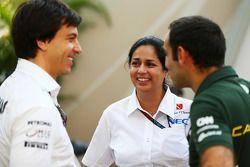 Toto Wolff, Mercedes AMG F1 ; Monisha Kaltenborn, Sauber ; Cyril Abiteboul, Caterham F1 Team
