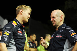 Race winner Sebastian Vettel, Red Bull Racing with Adrian Newey, Red Bull Racing Chief Technical Officer