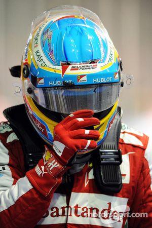 Fernando Alonso, Ferrari in parc ferme