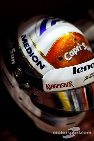 Casco de Adrian Sutil, Sahara Force India F1
