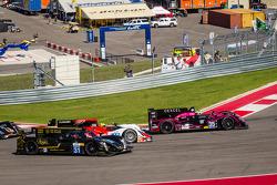 Start: #31 Lotus Lotus T128: Kevin Weeda, Vitantonio Liuzzi, James Rossiter goes off the track
