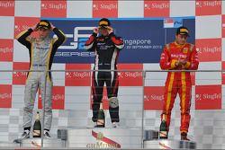 Race winner Sam Bird, second place Marcus Ericsson, third place Fabio Leimer