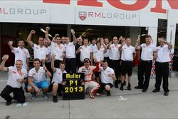 Celebration, Yvan Muller, Chevrolet Cruze 1.6T, RML WTCC Champion 2013