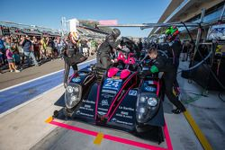 Driver change practice for #24 OAK Racing Morgan - Nissan: Olivier Pla, David Heinemeier Hansson, Alex Brundle
