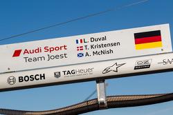 #2 Audi Sport Team Joest Audi R18 e-tron quattro pit board