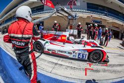 Pit stop for #41 Greaves Motorsport Zytek Z11SN - Nissan: Christian Zugel, Chris Dyson, Tom Kimber-S
