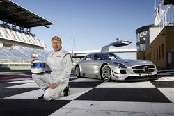 Mika Hakkinen with the Mercedes SLS AMG GT3