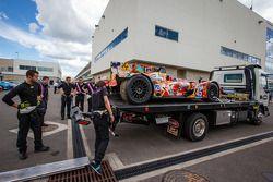 #45 OAK Racing Morgan - Nissan after a crash