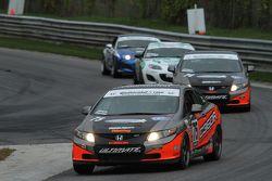#75 Compass360 Racing Honda Civic SI: Ryan Eversley, Kyle Gimple